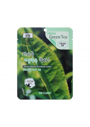 Тканевая маска для лица с зеленым чаем Fresh Green Tea Mask Sheet