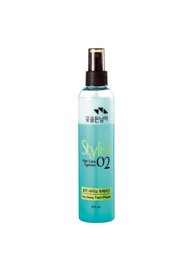 Восстанавливающий термозащитный спрей для волос Flor de Man Hair Care System Stylish 02 Silky Shining Two-Phase