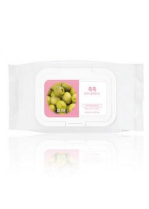 Cалфетки для удаления макияжа Daily Fresh Olive Cleansing Tissue