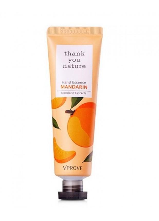 Крем-эссенция для рук с мандарином Thank You Nature Hand Essence Mandarin