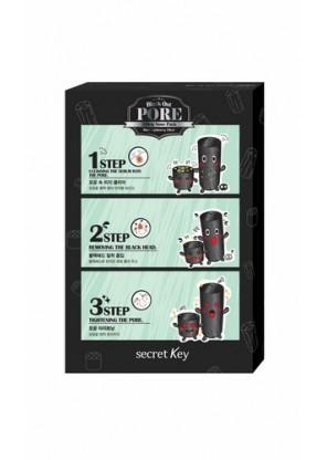 3-х ступенчатый набор для очистки пор Black Out Pore 3-Step Nose Pack 5P